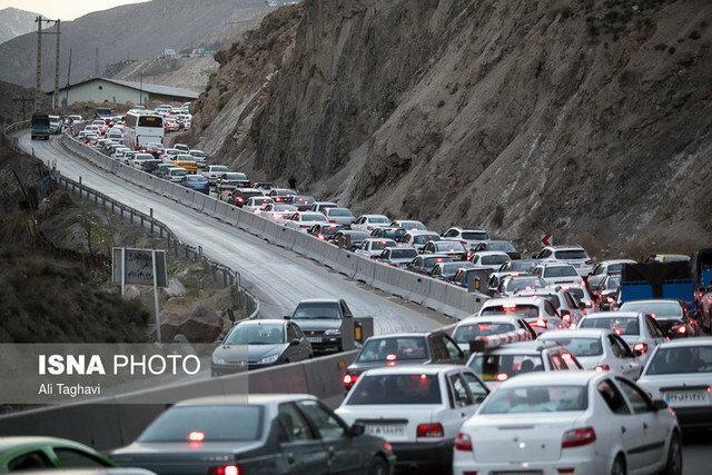 ترافیک سنگین و پرحجم در جاده های شمال