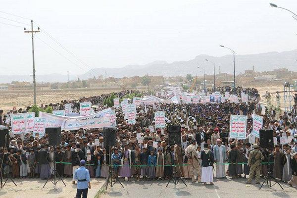 تظاهرات ضد سعودی مردم یمن در استان الحدیده